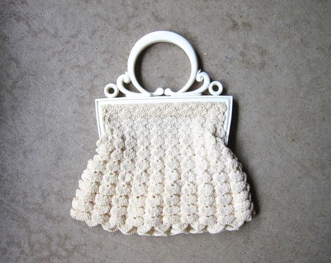 White Crochet Handbag