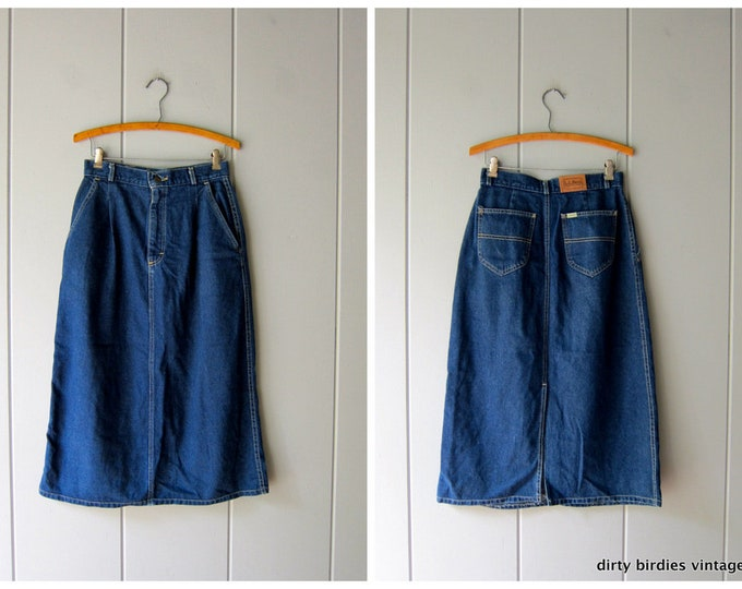 80s LL Bean Jean Skirt - Medium