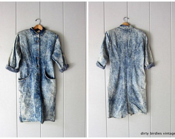 80s Acid Wash Jean Dress