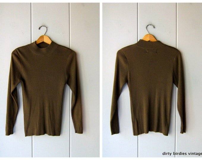 Silk Mock Neck Top - S/P