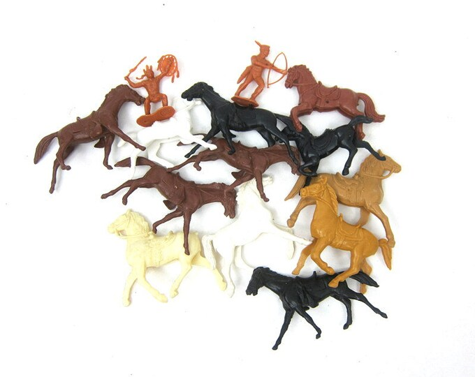 Vintage Plastic Horses Collection children toys