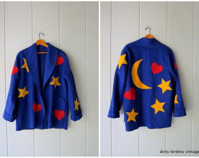 Stars, Moon & Hearts Wool Coat