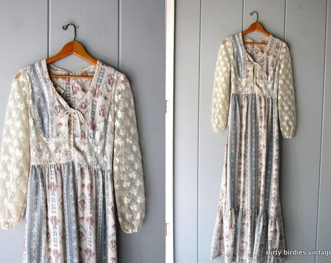 Prairie Ikat Maxi Dress