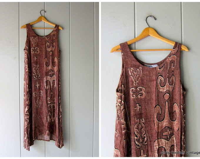 Brown Ethnic Boho Sundress