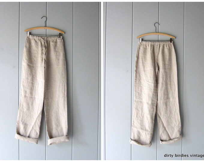 Minimal Linen Trousers - Small