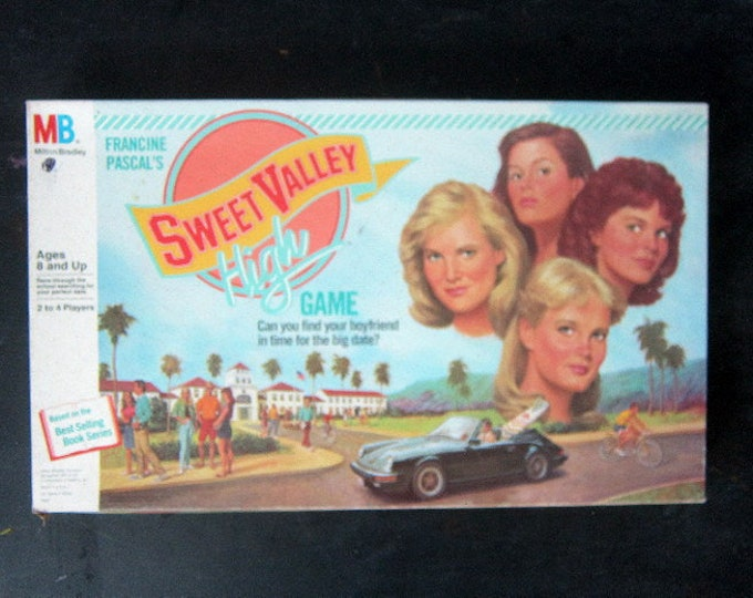 Sweet Valley High Game Vintage Retro Game Night 1980s Family Board Game Milton Bradley 1988