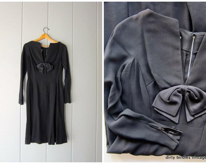 50s Black Bow Dress