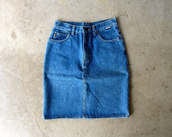 80s ESPRIT Jean Skirt - XS Small