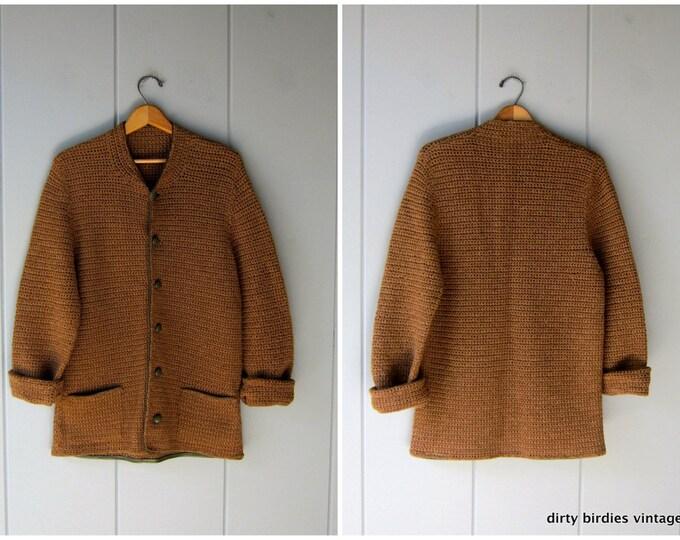50s Wool Cardigan Sweater M/L