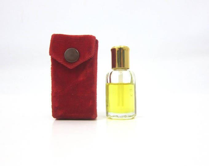 Small Red Velvet Perfume Bottle Holder Makeup Box Case Retro Antique Pin Up Girl Burlesque Vanity Decor Display
