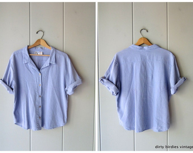Oversized Button Up Tee - Large
