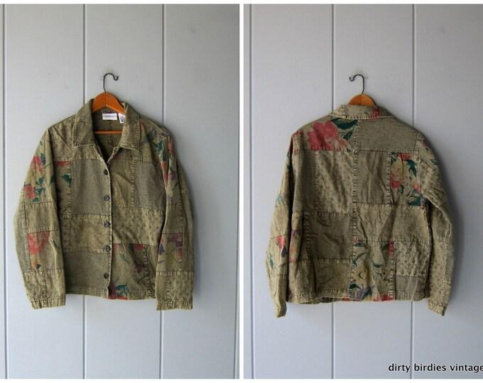 Floral Boho Jacket - Medium