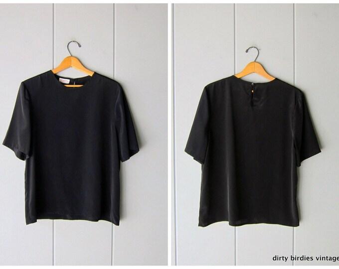 Black Minimal Top - Large