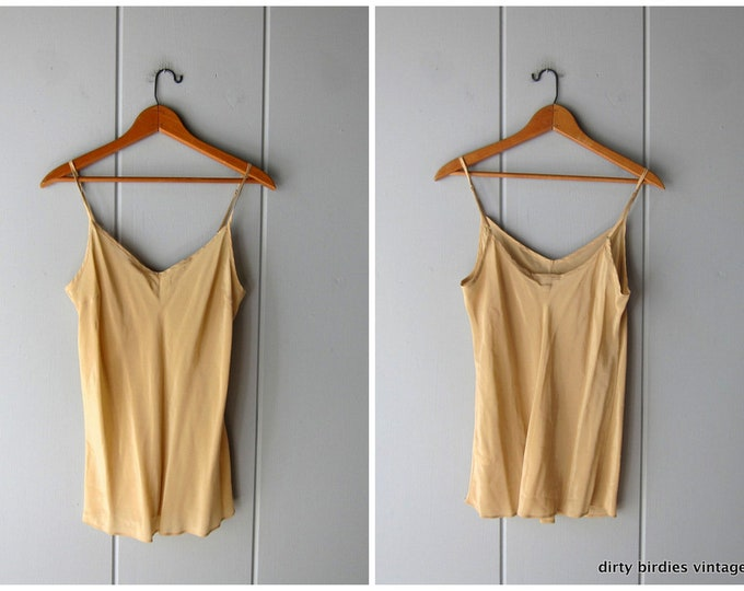 Nude Silk Tank Top - Small