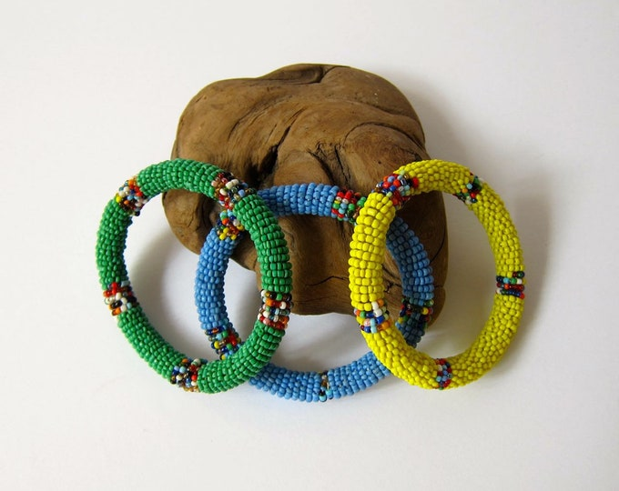 Multi Colored Beaded Bracelets