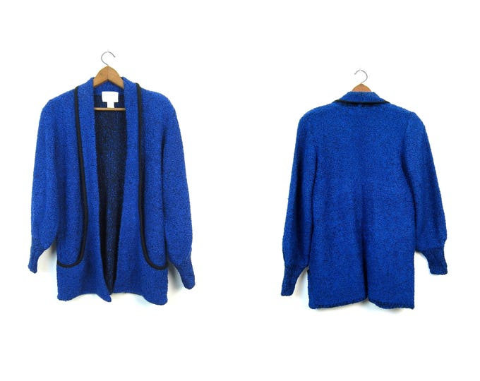 Blue Slouchy Sweater Coat