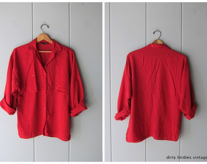 Berry Red Workwear Shirt