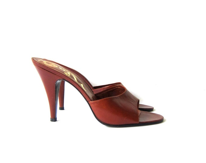 70s Leather Pumps - 8