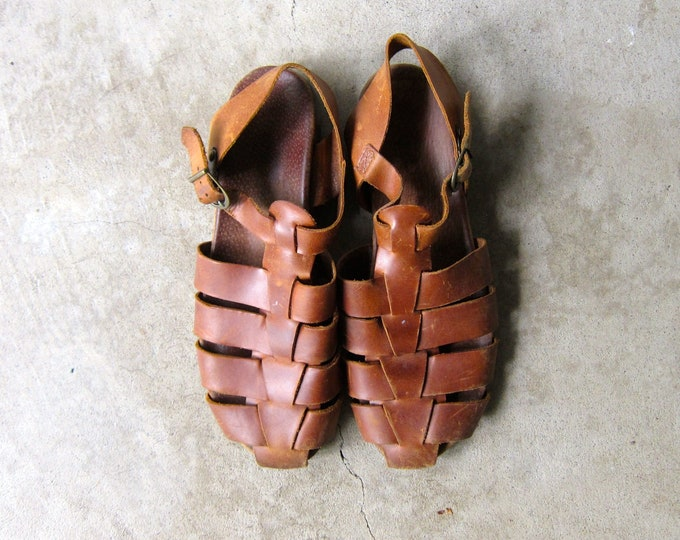 Leather Gladiator Sandals - 9