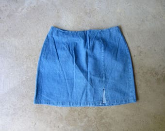 2508bd9dd5 90s Mini Jean Skirt High Waist Denim Skirt Vintage 1990s Miniskirt Boho  Preppy Summer Jean Skirt Blue Denim Skirt DES Womens Medium