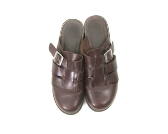 4331d3c7826 Leather Sandals Brown Leather Slip On Shoes