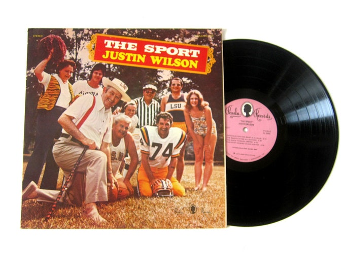 Justin Wilson The Sport Comedy Vinyl Record Album 12 Inch LP Vintage Music Paula Record Album