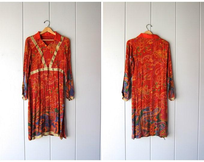 70s Indian Dress - Medium