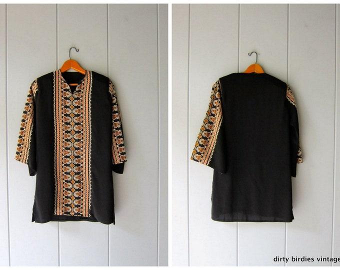 Embroidered Tunic Dress - XS