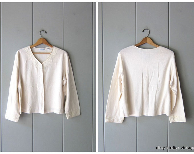 White Cotton Thermal Shirt - XL