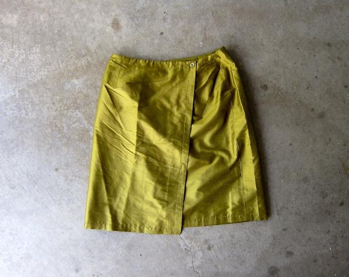 Green Silk Wrap Skirt 8