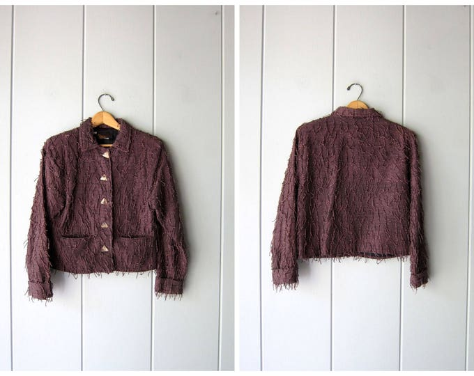 Fringed Cotton Jacket - XS Small