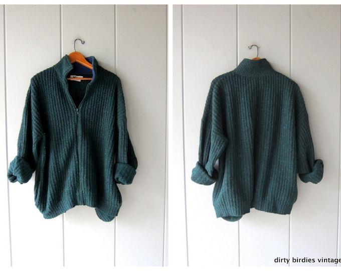 Zip Up REI Wool Sweater - XL