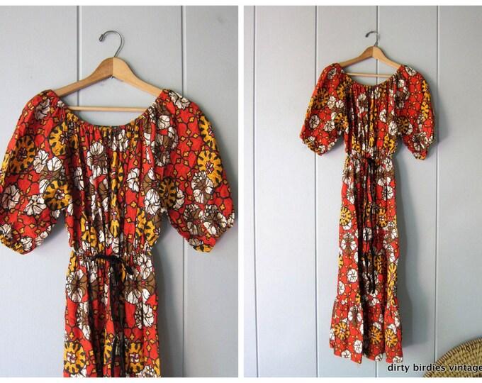 60s Floral Dress S/M