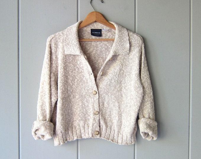 Natural Button Up Sweater - Medium