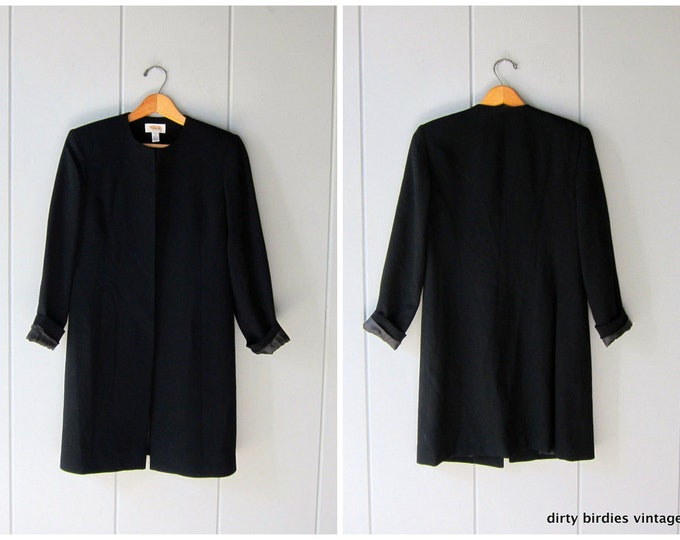 Classic Black Overcoat - XS/S