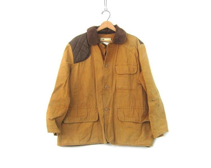 American Field Hunting Coat Rugged Game Coat Birding Duck Distressed Canvas Hunting Sportswear Jacket Vintage Sportsman Pocket Coat Large