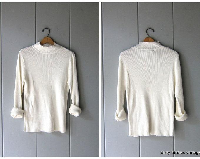 White Rib Knit - XL