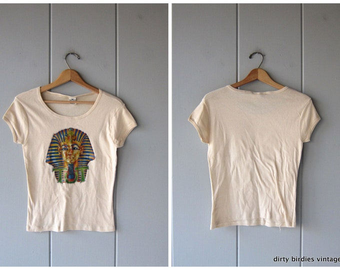 80s King Tut T-Shirt Cap Sleeve Vintage Shirt Tee Womens Small