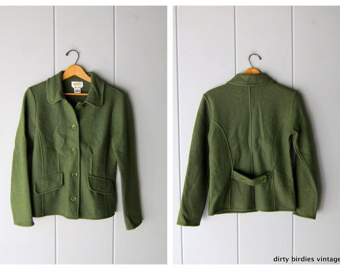 Green Wool & Alpaca Sweater Coat