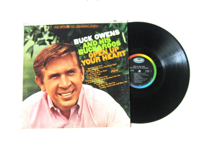Buck Owens and His Buckaroos Open Up Your Heart Vinyl Record Album 12 Inch LP Vintage Music Capital Record Album