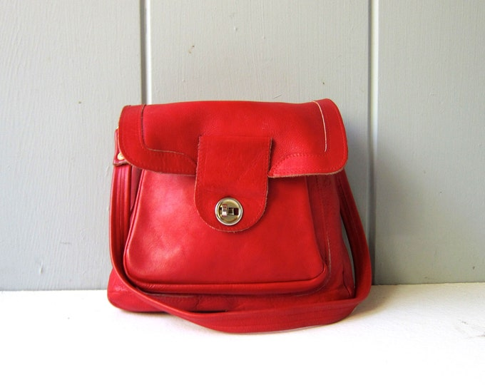 60s Red Leather Purse