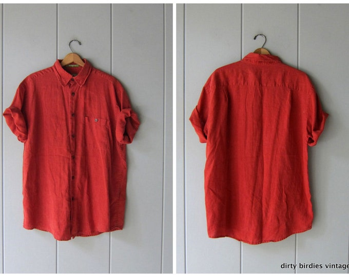 Blood Orange Hemp Shirt - Men's Large