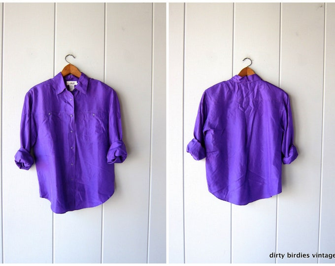 Purple Silk Blouse - Small