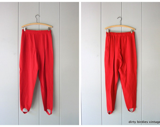 Red Stirrup Pants - Large