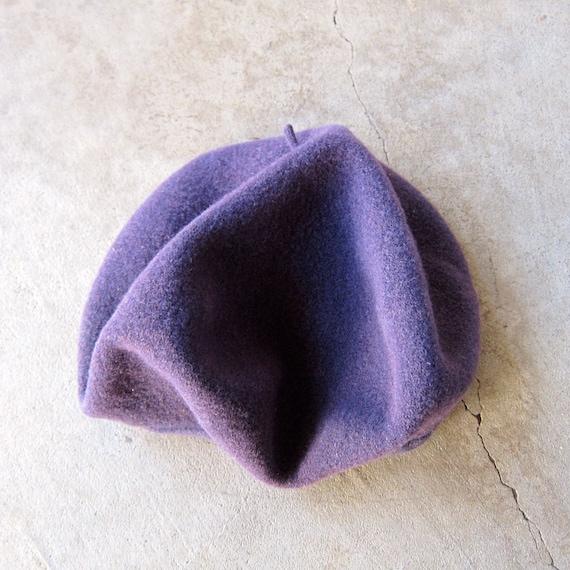 539afcb1014 Purple Wool Beret Modern Circle Wool Hat 80s Parisian Fall