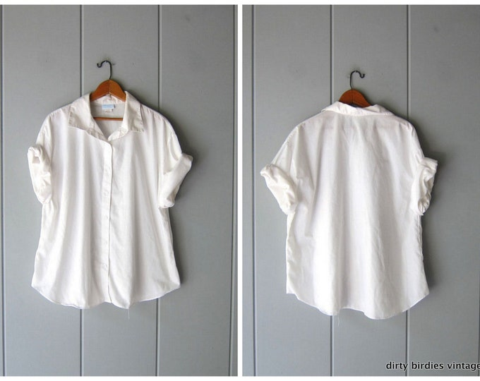 Relaxed White Tee - XL