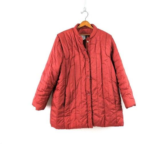 1980s Puffer Jacket Vintage Women's Coat Size XL