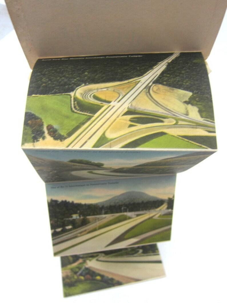 Pennsylvania Turnpike Postcards Vintage Photo Postcard Set Stationary Card Paper Ephemera Souvenir Scrapbooking