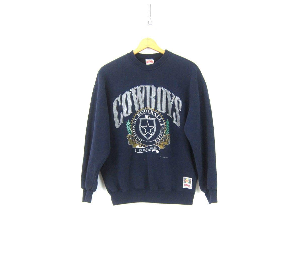 5e8043057 Dallas Cowboys Football Sweatshirt Baggy Blue sweatshirt Sporty ...