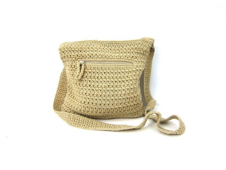 Khaki fabric bag purse Vintage woven fabric SAK bag Crossbody  c42ed313dcd94